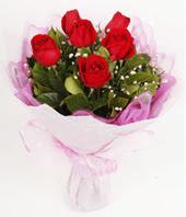 9 adet kaliteli görsel kirmizi gül  Kıbrıs çiçek satışı