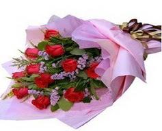 11 adet kirmizi güllerden görsel buket  Kıbrıs çiçek gönderme