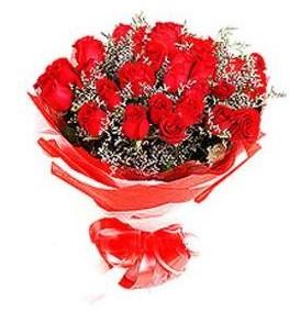 Kıbrıs güvenli kaliteli hızlı çiçek  12 adet kırmızı güllerden görsel buket