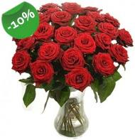 Vazo içerisinde 25 adet kırmızı gül  Kıbrıs uluslararası çiçek gönderme