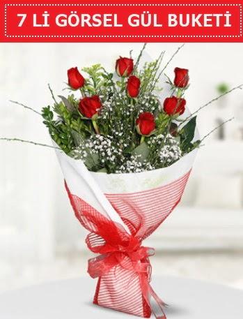 7 adet kırmızı gül buketi Aşk budur  Kıbrıs ucuz çiçek gönder