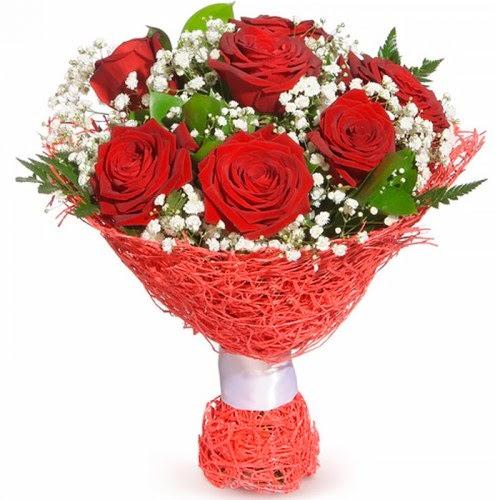 7 adet kırmızı gül buketi  Kıbrıs çiçek siparişi vermek