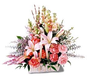 Kıbrıs çiçekçiler  mevsim çiçekleri sepeti özel tanzim