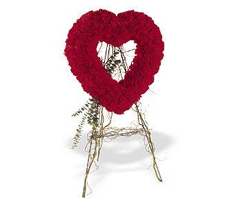 Kıbrıs internetten çiçek siparişi  karanfillerden kalp pano