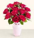 Kıbrıs çiçek siparişi sitesi  10 kirmizi gül cam yada mika vazo tanzim