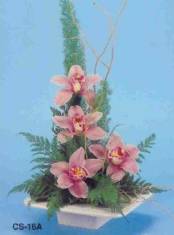 Kıbrıs çiçek , çiçekçi , çiçekçilik  vazoda 4 adet orkide