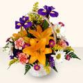 Kıbrıs hediye sevgilime hediye çiçek  sepet içinde karisik çiçekler