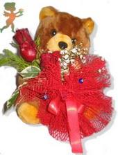 oyuncak ayi ve gül tanzim  Kıbrıs çiçek siparişi vermek
