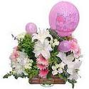 balon ve çiçeklerle tanzim  Kıbrıs internetten çiçek siparişi