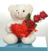 3 adetgül ve oyuncak   Kıbrıs İnternetten çiçek siparişi