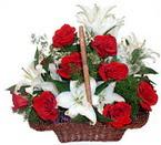 sepette gül ve kazablankalar   Kıbrıs internetten çiçek satışı