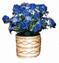 yapay mavi çiçek sepeti  Kıbrıs 14 şubat sevgililer günü çiçek
