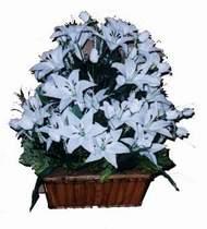 yapay karisik çiçek sepeti   Kıbrıs cicekciler , cicek siparisi