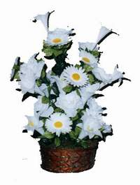 yapay karisik çiçek sepeti  Kıbrıs cicek , cicekci