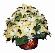 yapay karisik çiçek sepeti   Kıbrıs çiçekçiler