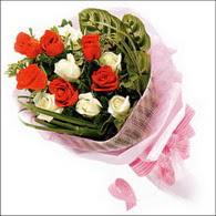 5 kirmizi 5 beyaz güllerden   Kıbrıs cicekciler , cicek siparisi