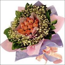 11  adet  gül ve   elyaflar   Kıbrıs internetten çiçek satışı