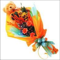 ayicik gül ve kir çiçekleri   Kıbrıs internetten çiçek satışı