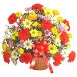 karisik renkli çiçek sepet   Kıbrıs çiçek gönderme