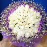 71 adet beyaz gül buketi   Kıbrıs hediye çiçek yolla