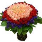 71 adet renkli gül buketi   Kıbrıs çiçekçi mağazası
