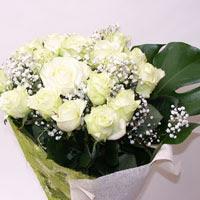 Kıbrıs çiçek siparişi sitesi  11 adet sade beyaz gül buketi