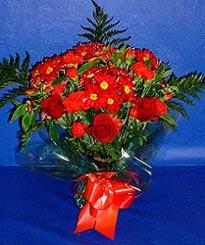 Kıbrıs çiçek siparişi sitesi  3 adet kirmizi gül ve kir çiçekleri buketi