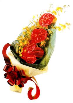 özel 5 adet antorium buketi   Kıbrıs çiçek gönderme