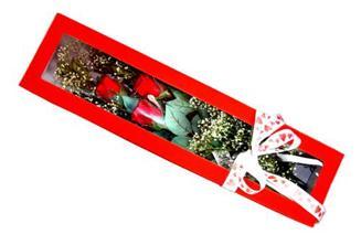 Kıbrıs çiçek siparişi sitesi  Kutuda 3 adet gül