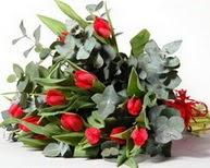 Kıbrıs ucuz çiçek gönder  11 adet kirmizi gül buketi özel günler için
