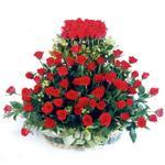 Kıbrıs yurtiçi ve yurtdışı çiçek siparişi  41 adet kirmizi gülden sepet tanzimi