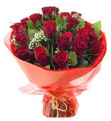Kıbrıs çiçek online çiçek siparişi  11 adet kimizi gülün ihtisami buket modeli