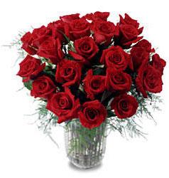 Kıbrıs çiçek gönderme  11 adet kirmizi gül cam yada mika vazo içerisinde