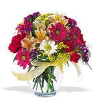 Kıbrıs hediye çiçek yolla  cam yada mika vazo içerisinde karisik kir çiçekleri