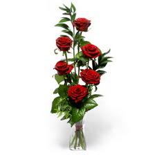 Kıbrıs anneler günü çiçek yolla  mika yada cam vazoda 6 adet essiz gül