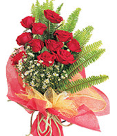 11 adet kaliteli görsel kirmizi gül  Kıbrıs ucuz çiçek gönder