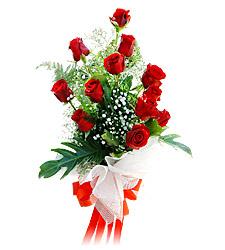 11 adet kirmizi güllerden görsel sölen buket  Kıbrıs cicek , cicekci