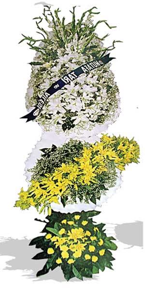 Dügün nikah açilis çiçekleri sepet modeli  Kıbrıs hediye çiçek yolla