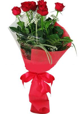 7 adet kirmizi gül buketi  Kıbrıs çiçek gönderme sitemiz güvenlidir