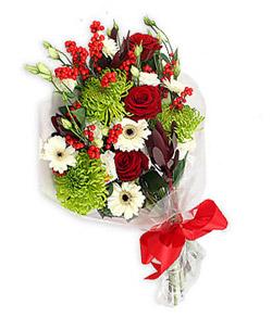 Karisik mevsim buketi çiçek tanzimi  Kıbrıs online çiçek gönderme sipariş