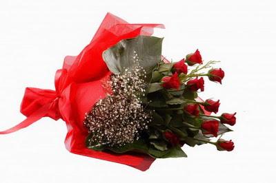 Kıbrıs çiçekçiler  11 adet kirmizi gül buketi çiçekçi