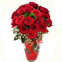 Kıbrıs çiçekçiler   9 adet kirmizi gül