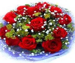 9 adet kirmizi güllerden buket  Kıbrıs çiçek , çiçekçi , çiçekçilik