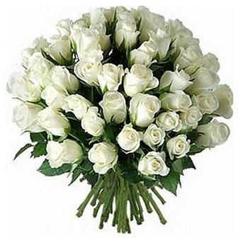 Kıbrıs kaliteli taze ve ucuz çiçekler  33 adet beyaz gül buketi