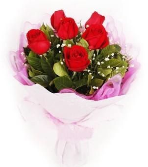 Kıbrıs çiçek servisi , çiçekçi adresleri  kırmızı 6 adet gülden buket