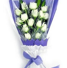 Kıbrıs internetten çiçek satışı  11 adet beyaz gül buket modeli