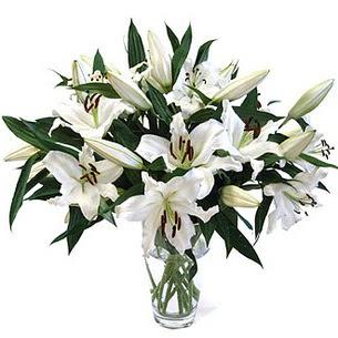 Kıbrıs çiçek , çiçekçi , çiçekçilik  3 dal görsel casablanca vazo tanzimi