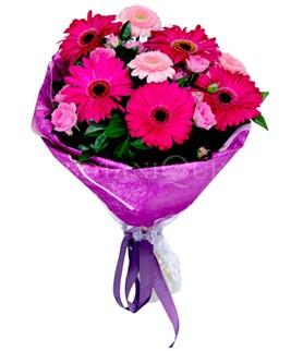 Kıbrıs çiçekçiler  karışık gerbera çiçeği buketi