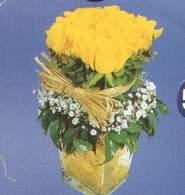 Kıbrıs çiçek online çiçek siparişi  Cam vazoda 9 Sari gül