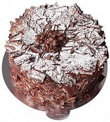 6 ile 9 kişilik Parça Çikolatalı Yaş pasta